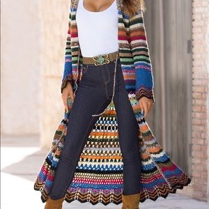 Boston Proper | Colorful Knitted Maxi Cardigan